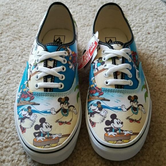 62ad03568f Disney Aloha Mickey Vans Limited Edition